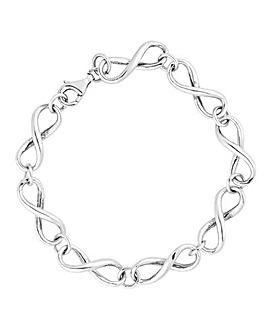 Simply Silver Infinity Link Bracelet