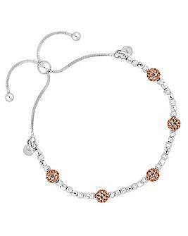 Simply Silver Filigree Bead Bracelet