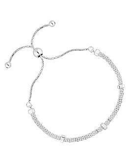 Simply Silver Mesh Toggle Bracelet