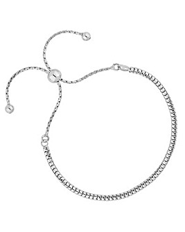 Simply Silver Slinky Toggle Bracelet