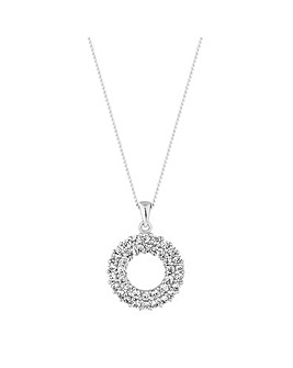 Simply Silver Circle Pendant Necklace