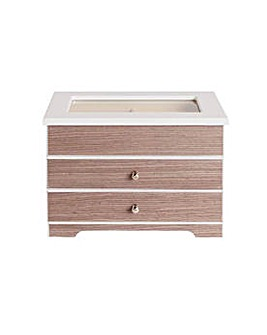 White and Grey Wooden Jewellery Box