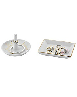 Porcelain Jewellery Tidy - Set of 2
