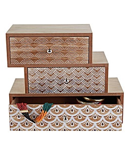 Three Tier Wooden Jewellery Box
