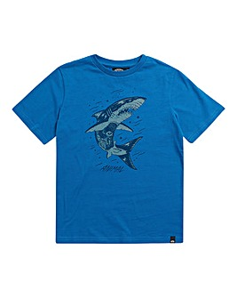 Animal Boys Blue Sharko Tee