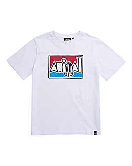 Animal Boys White Retro Tee