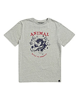 Animal Boys Grey Marl Dingo Tee