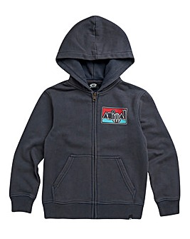 Animal Boys Indigo Worn Zip Hoodie