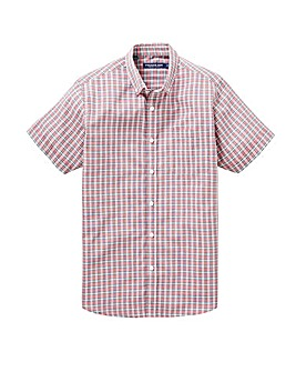 Red Check Short Sleeve Shirt Regular
