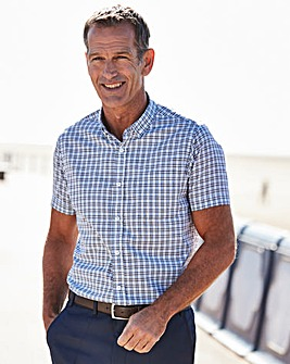 Blue Check Short Sleeve Shirt Regular