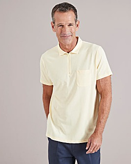 Lemon Zip Neck Polo Shirt Regular