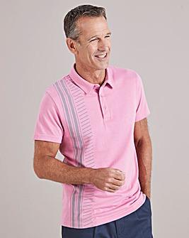 Pink Short Sleeve Tailored Collar Polo Shirt Regular
