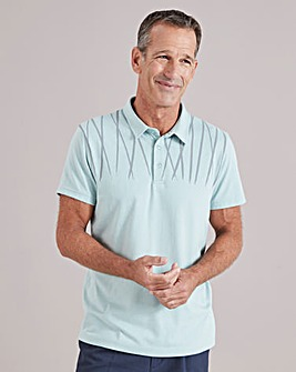 Sage Short Sleeve Tailored Collar Polo Shirt Regular