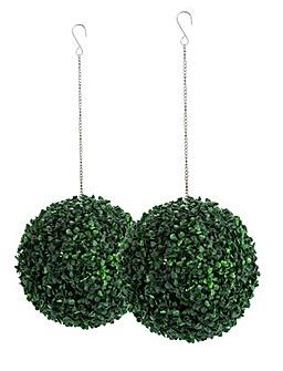 Home Grass 30cm Garden Topiary Balls x2