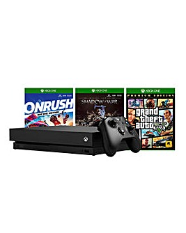 Xbox One X & 3 Games