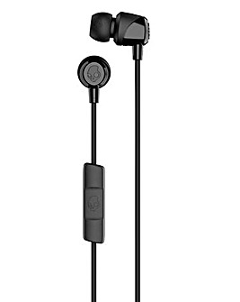 Skullcandy JIB With Mic Wired Headphones - Black