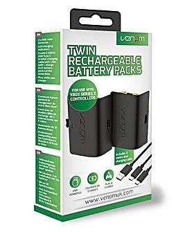 Xbox Series X Twin Black Battery Packs