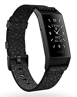 Fitbit Charge 4 SE - Granite Reflective Woven/Black