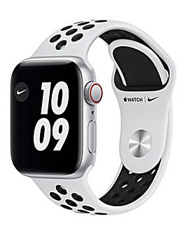 Apple Watch Nike SE GPS + Cellular, 40mm Grey Case, Platinum/Black Sport Band