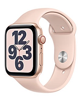 Apple Watch SE GPS + Cellular, 44mm Gold Case with Pink Sand Sport Band