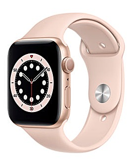 Apple Watch Series 6 GPS, 44mm Gold Case with Pink Sand Sport Band