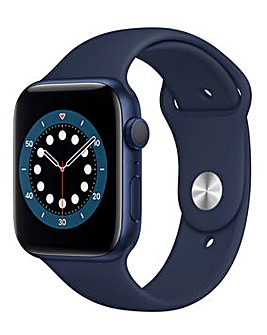 Apple Watch Series 6 GPS, 44mm Blue Case with Deep Navy Sport Band