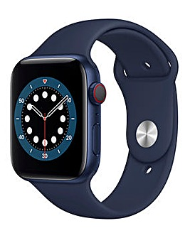 Apple Watch Series 6 GPS + Cellular, 44mm Blue Case with Deep Navy Sport Band