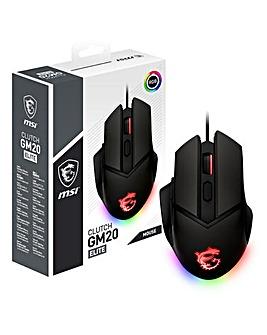 MSI Clutch GM20 Elite RGB Optical Gaming Mouse