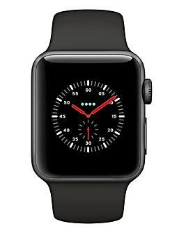 Apple Watch Series 3 GPS + Cellular, 38mm Silver Aluminium Case with Sport Band