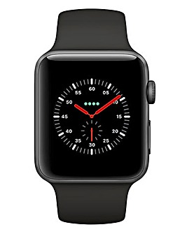 Apple Watch Series 3 GPS + Cellular, 42mm Silver Aluminium Case with Sport Band