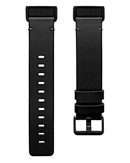 Fitbit Charge 3 & 4 Leather Band - Black