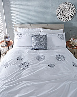 Aisha Embroidered Duvet Cover Set