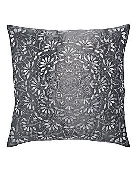 Aisha Embroidered Square Filled Cushion