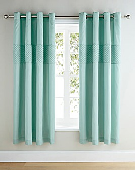 Corine Embellished Lined Eyelet Curtains