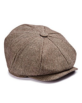 Brown Check Baker Boy Hat