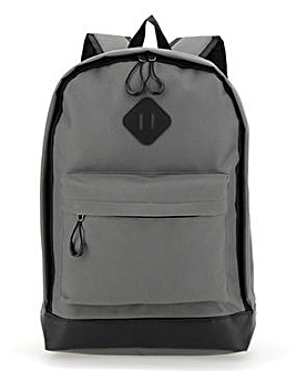 Grey Plain Back Pack