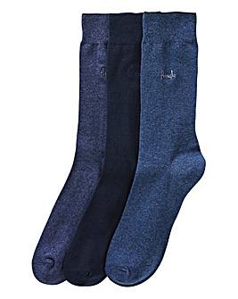 Pringle Pack of 3 Blue Socks