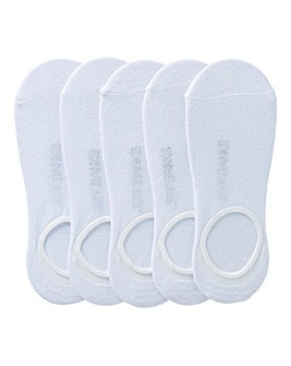 Jeff Banks Pack of 5 White Shoe Liners