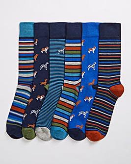 6 Pack Dog Mix Socks