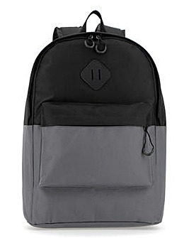 Black/Grey Colour Block Backpack