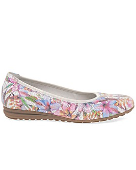 Gabor Splash Wider Fit Ballet Pumps