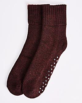Burgundy Cosy Lounge Sock