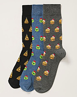 3 Pack Christmas Novelty Socks