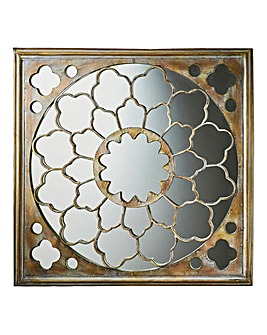 Silver Fretwork Mirror