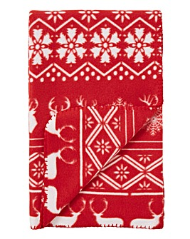 Nordic Fleece Throw Pair
