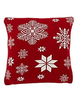 Snowflake Knitted Cushion