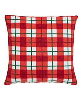 Christmas Check Cushion