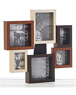 Mixed Metallic Collage 6 Photo Frame
