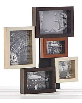 Mixed Metallic Collage 5 Photo Frame