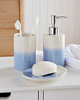 Ombre 3 Piece Bathroom Accessory Set